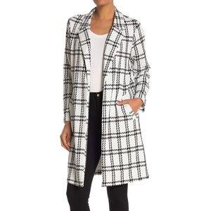 Mello Day Nordstrom Plaid Notch Lapel Long Jacket